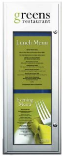 Catering Menu Case with Logo header